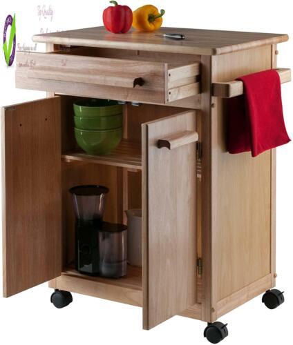 Winsome Wood Single Drawer Kitchen Cabinet Stora Cart Natural