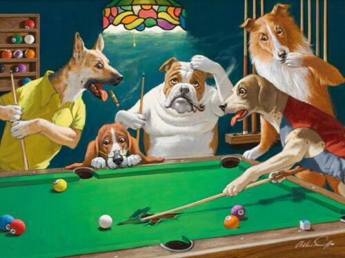 Jack the Ripper Pool Dogs Arthur Sarnoff Game Room Sport Canvas Poster Art Print