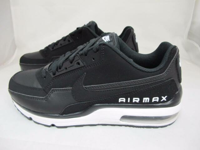 8ee4a5736a1d6 Nike Air Max Ltd 3 Mens 687977-013 Black White Leather Running Shoes ...