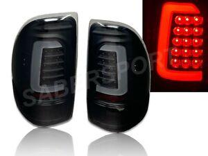 Set-of-Pair-Black-Smoke-C-Bar-LED-Taillights-for-1997-2004-Dodge-Dakota