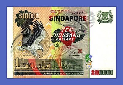 SINGAPORE Reproductions 10000 Dollars 1978s See description!!!