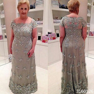 Details about Plus Size Vintage Mother of the Bride Dress Lace Formal  Evening Party Ball Gown