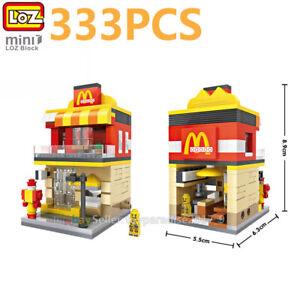 LOZ MINI Blocks DIY Kids Adult Building Toys City Street Cinema View