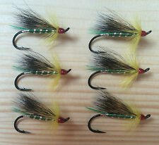 Green Cosseboom Atlantic Salmon Flies - 6 Fly MULTI-PACK - Sizes 4, 6 and 8