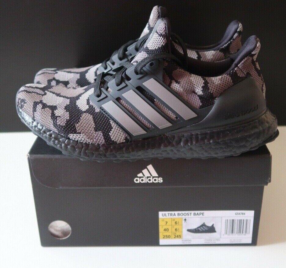 Adidas Ultra Boost 4.0 Trainers Bape Camo Black Mens Size UK 6.5 EU 40 (G54784)