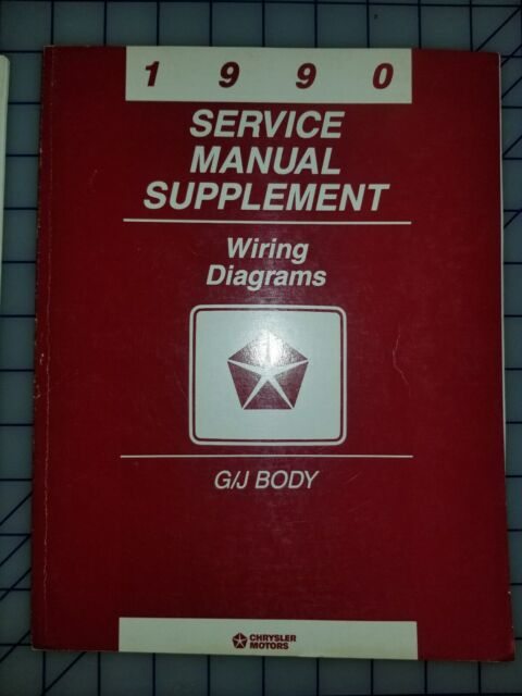 1990 Chrysler Dodge Service Manual Sup Wiring Diagrams G J