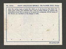 Republik Maluku Selatan 1954 Flowers 20v MH in original sales folder