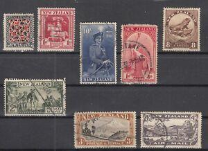 D3064-NEW-ZEALAND-1932-1954-USED-SEMI-MODERN-LOT-CV-200
