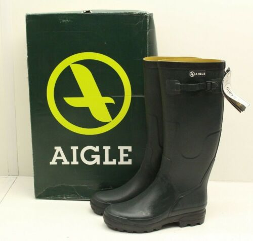 NEW New Mens Aigle Benyl Wellington Boot Wellies Adjustable Strap Size Choice