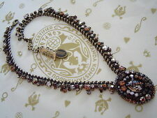 Konplott cadena/Collier las vegas marrón Crystal/Antique bronce