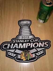 CHICAGO-BLACKHAWKS-2013-Stanley-Cup-Champions-LARGE-PATCH-9-034-x-10-034-NEW-NHL
