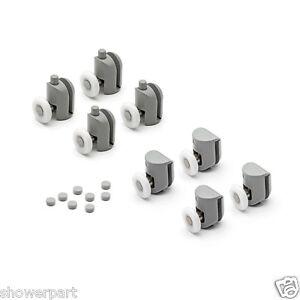 Conjunto-de-8-Individual-RODAMIENTOS-MAMPARA-Pasillo-Polea-25mm-ruedas-DIA