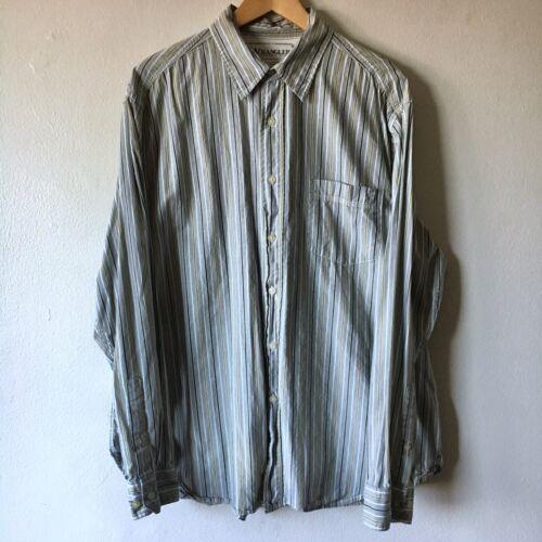 Wrangler XL Shirt Button Up Striped Collar Pocket