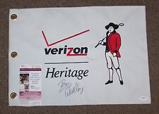 BOO WEEKLEY AUTO AUTOGRAPH SIGNED VERIZON HERITAGE GOLF TOURNAMENT FLAG JSA