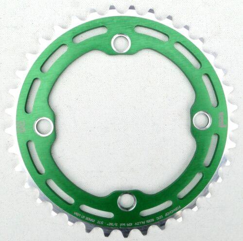 Porkchop BMX single speed bicycle Chop Saw I Chainring 37T 4 bolt 104 bcd GREEN