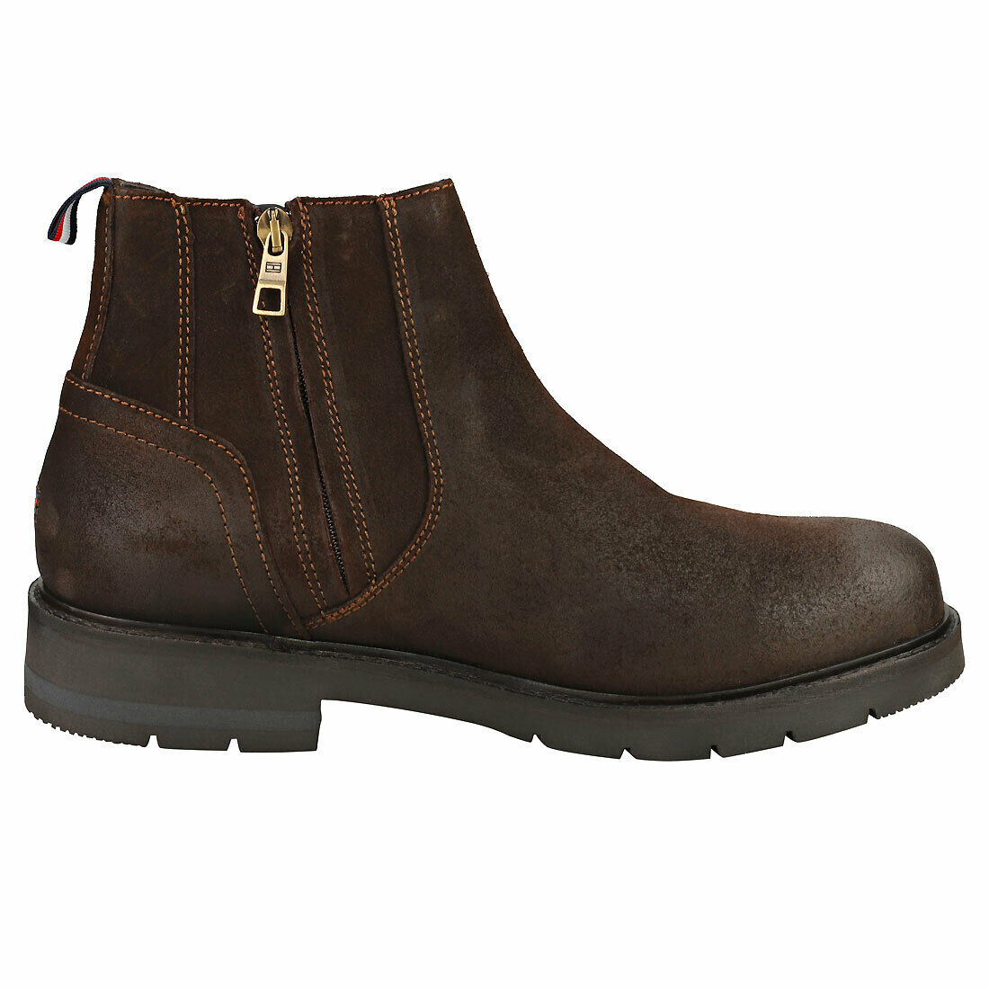 Tommy Hilfiger Corporate Mens Cocoa Chelsea Boots - 9 UK