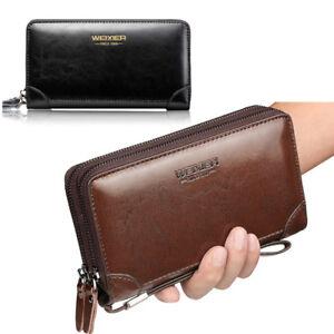 Men-Hand-Bag-Clutch-Bag-Male-PU-Leather-Cell-Phone-Holder-Wallet-Wrist-Bag-Hot
