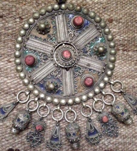 Vintage Moroccan Diadem Headdress Ornament Silver