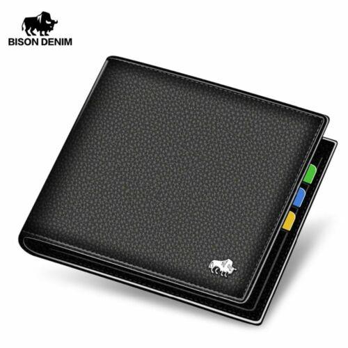 Men Wallet Luxury Leather Top Brand Wallets Male Wallet Bifold Card Holder Purse