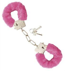 Accessoires-coquins-paire-de-menotte-en-fausse-fourrure-rose-clair