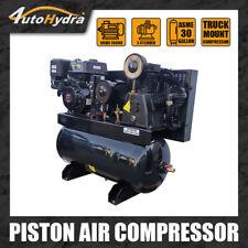 4utohydria 180psi Gas Driven Piston Air Compressor 13hp 30gallon Tank Truck Bed