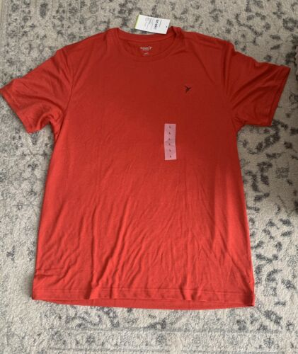 Old Navy Active Go-Dry short sleeve shirt athletic fitness mens size large Red