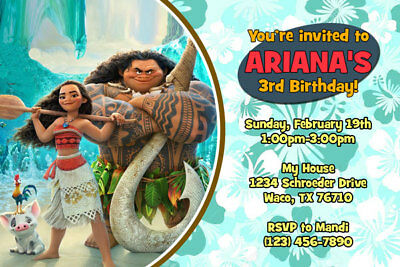 photo relating to Moana Printable Invitations named Moana Invites - Tailored - Birthday Social gathering - Delivered or Printable  eBay