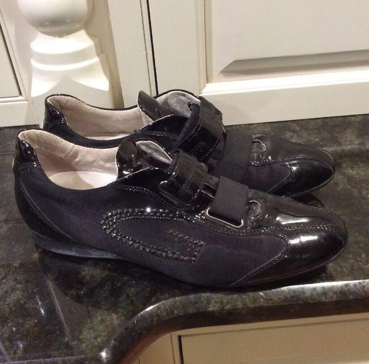 Alberto Guardiani zapatillas de patente negro, tamaño 40, nosotros tamaño 9.  Hermoso