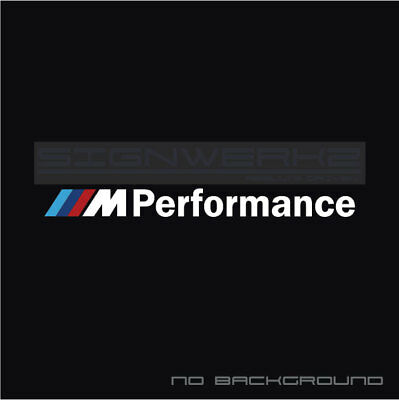 Powered By M Performance Decal Sticker logo M power M3 M5 Multi Color Pair
