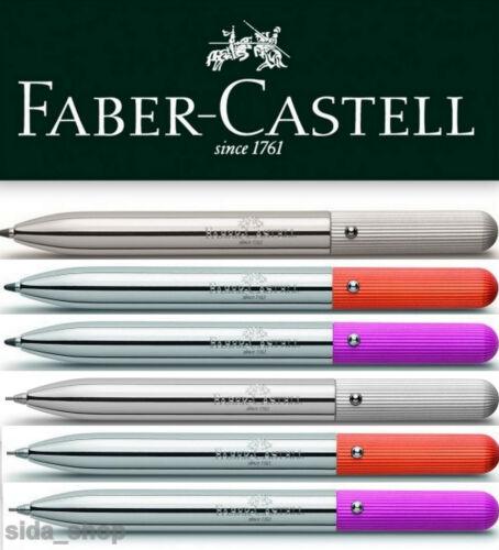 Faber-Castell pocket pen Drehkugelschreiber Drehbleistift 0,7 silber pink orange