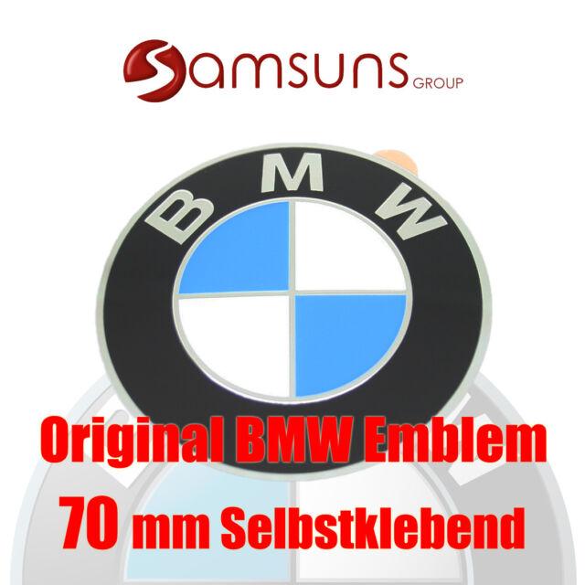 ORIGINAL BMW Logo Emblem 70mm Plakette Felgenemblem Aufkleber selbstklebend NEU