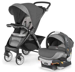 chicco bravo le trio travel system stroller w keyfit 30 zip car seat silhouette ebay. Black Bedroom Furniture Sets. Home Design Ideas