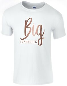 Rose-Gold-Big-Brother-Boys-T-Shirt-Printed-Gift-Present-Top-Pregnancy-Reveal