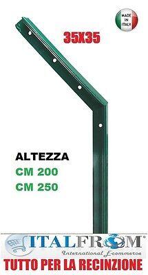 /Ø 38 mm-Altezza 260 cm curvatura /Ø 48 mm ITALFROM PALETTO Tondo Curvo in Ferro PLASTIFICATO Verde