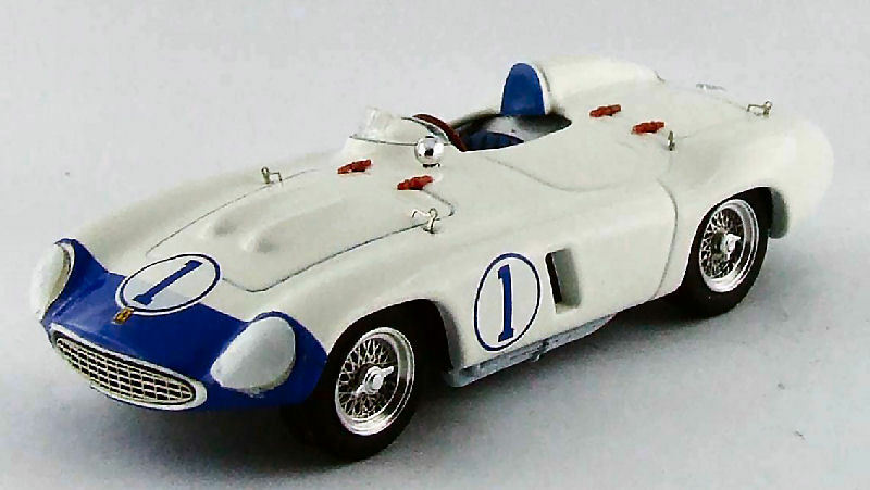 Ferrari 857 s   unfall nassau trophy 1956, s. hill 1 43 modell 0291 art-model