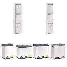 vidaXL Cubo de Reciclaje y Basura Pedal Acero Inoxidable 2/3x Diversa Capacidad