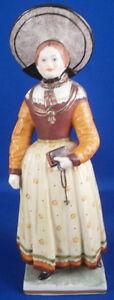 Antik-19thC-Nymphenburg-Porzellan-Milch-Maid-Figur-Figur-Porzellan-Figur