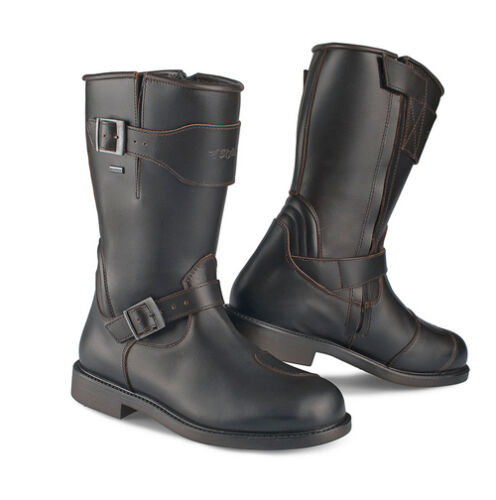 Details about Stylmartin Legend R Waterproof Motorcycle Boots Brown