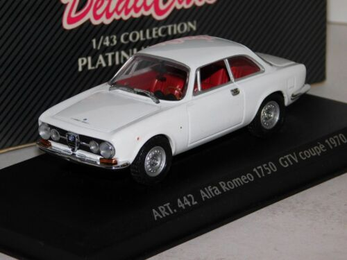 ALFA ROMEO GTV 1750 COUPE 1970 WHITE DETAIL CARS ART 442 1//43