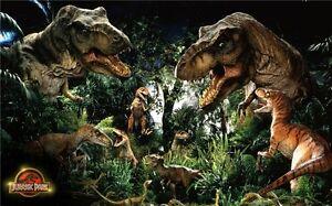 "Jurassic World - Chris Pratt Dinosaur Moster Movie Poster 21x13"" J14"