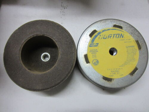 "NORTON 6/"" x 2-1//2/"" x 5//8-11 A24-Q5B7 Type-6 1-1//2/""thick Grinding Cup Wheel 96512"
