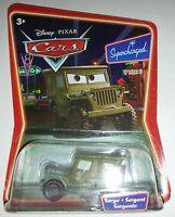 Sarge Sergent Sargento Supercharged Disney Pixar Cars Bilingual Package 1b