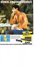 PUBLICITE ADVERTISING  1984   SCHICK SUPER II PLUS  rasoir