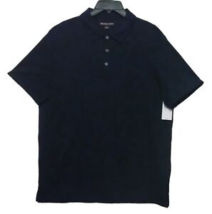 Michael Kors Midnight Blue Polo Pullover Shirt Men's Size Large New