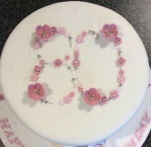 Image Is Loading 80TH BIRTHDAY AND ANNIVERSARY CAKE TOPPER DECORATIONS