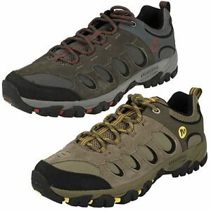Sneaker Mens Leather Lace Up Merrel Walking Trainers Ridgepass Bolt