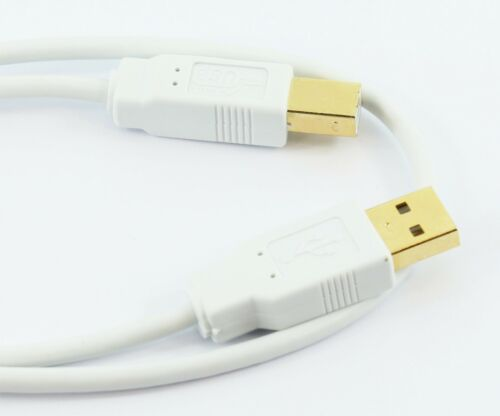 USB 2.0 A to B PRINTER CABLE M//M WHITE or BLACK 0.5m 1m 2m 3m 5m GOLD CONNECTORS