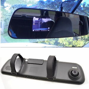 Hd 1080p Dash Cam Video Recorder Rearview Mirror Car