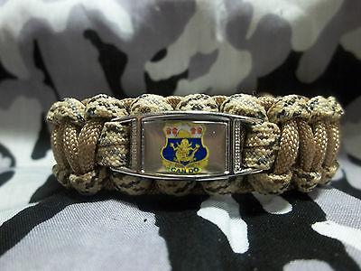 1st bataillon des Rois REGIMENT Aide Pour Héros Inspiré Paracord 550 Bracelet