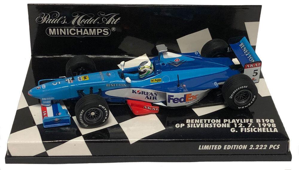 Minichamps Benetton B198 British GP 1998 - Giancarlo Fisichella 1 43 Scale